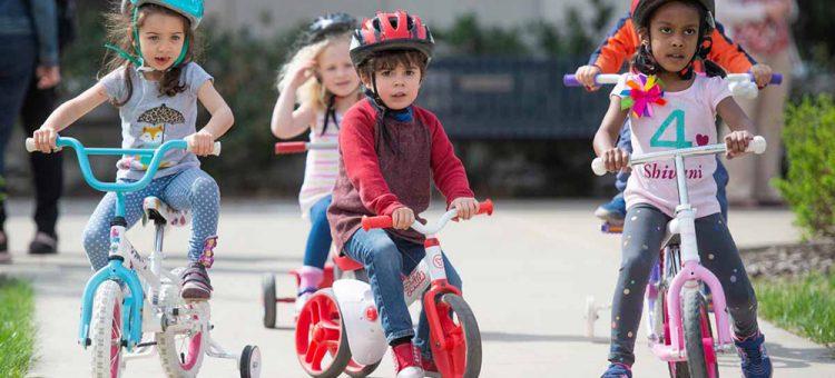 CDL kids riding bikes