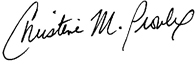 Christine Proulx signature