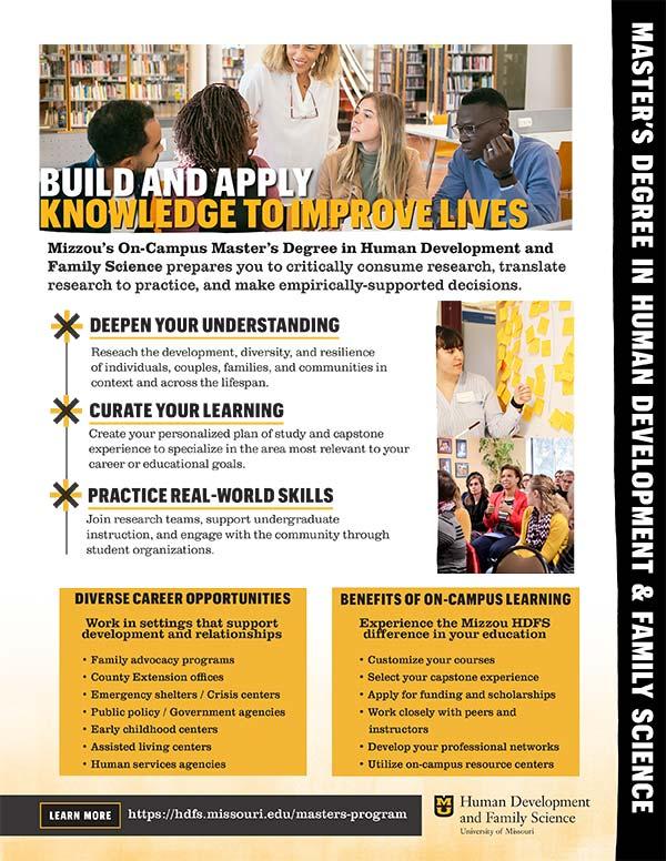 Open Masters Program Flyer